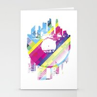 deadmau5 Stationery Cards featuring Urban Vinyl V2 by Sitchko Igor
