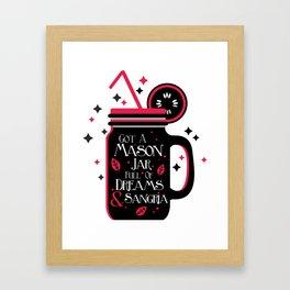 Mason jar Framed Art Print