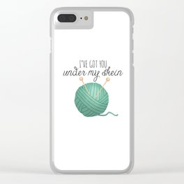I've Got You Under My Skein Clear iPhone Case