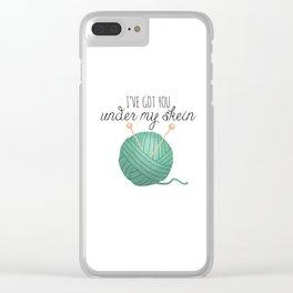 I've Got You Under My Skein Clear iPhone Case