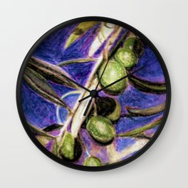 CRAYON LOVE - Olivebranch Wall Clock
