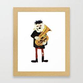 Tuba Player Framed Art Print