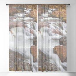 Scottish Falls. Sheer Curtain