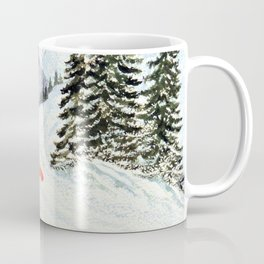 Merry Christmas with Skiing Santa Coffee Mug