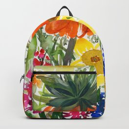 daffodils and hyacinths: watercolor painting Backpack