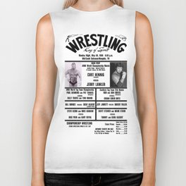 #13 Memphis Wrestling Window Card Biker Tank