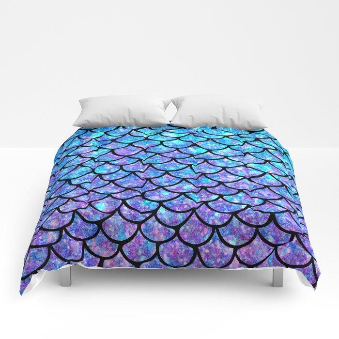 Purples & Blues Mermaid scales Comforters