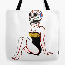 Calavera Pin Up Tote Bag
