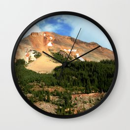 The Famous Gold Mines of Red Mountain Wall Clock