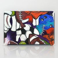 sports iPad Cases featuring Sports Fans by Jake Dorr