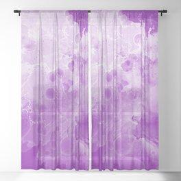 purple storm Sheer Curtain