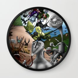 Prototype World - Great Journey Poster Wall Clock