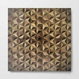 Golden pyramids Metal Print