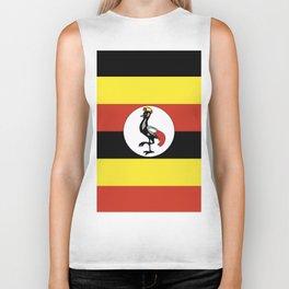 Uganda flag emblem Biker Tank