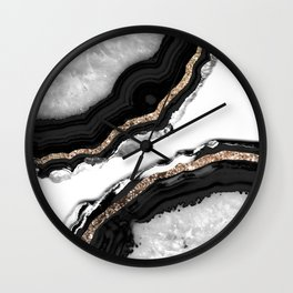 Agate Glitter Glam #2 #gem #decor #art #society6 Wall Clock