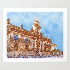 Beautiful buildings with history Art Print