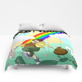 BRB! POOPING! Comforters