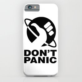 Don't Panic - Hitchhikers Guide iPhone Case