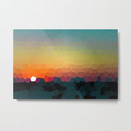 Sunset Mosaic 'Dry 2' Metal Print
