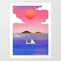 Mystic Boat Art Print