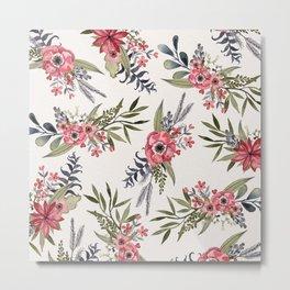 Poppy Bouquets Metal Print