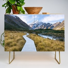 Mt.Cook New Zealand - A hikers dream Credenza