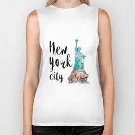 New York City watercolor Biker Tank