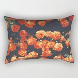 Orange Poppy Blooms Rectangular Pillow