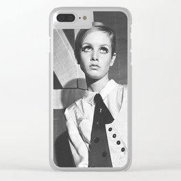 Old British Top Model Clear iPhone Case