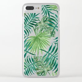 Palm Tree Extravaganza Clear iPhone Case