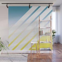 Gradient White Stripes Wall Mural