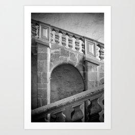 Narbonne stairway Art Print