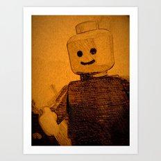 Old Lego Art Print