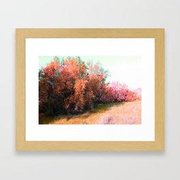 Spring pink landscape Framed Art Print