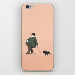 A Man with a Dog iPhone Skin