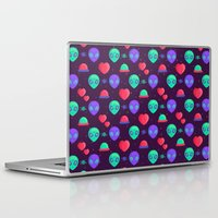 aliens Laptop & iPad Skins featuring Kawaii Aliens by badOdds