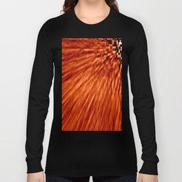 Burnt Orange Pixel Wind Long Sleeve T-shirt