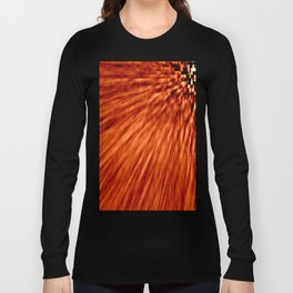Burnt Orange Pixel Wind Long Sleeve T-shirt