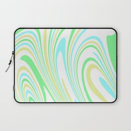 Blue, Yellow, and Green Waves 2 Laptop Sleeve