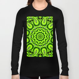 Spring Garden Mandala, Abstract Star Burst Delightful Spirals Long Sleeve T-shirt