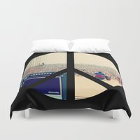 woodstock Duvet Covers featuring Woodstock 69 by Silvio Ledbetter