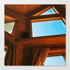 Cabin Interior Windows Canvas Print