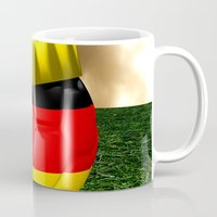 world cup Mugs featuring World Cup Champion 2014 by Littlebell