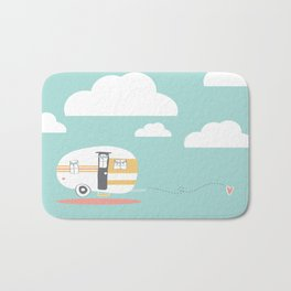Lets See Really Cool Stuff Together Airstream Art  Bath Mat