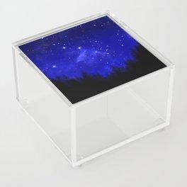 Blue Galaxy Forest Night Sky Acrylic Box