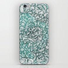 Squigg Block (Blue-Green) iPhone & iPod Skin