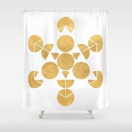ICOSAHEDRON FRUIT OF LIFE minimal sacred geometry Shower Curtain