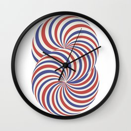 torus blue and red airmail theme Wall Clock