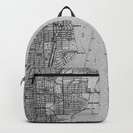 Miami Florida vintage map year 1950, grey usa maps Backpack