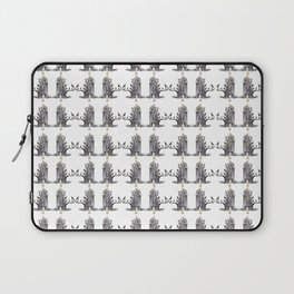 Gray Trolls Pattern Laptop Sleeve